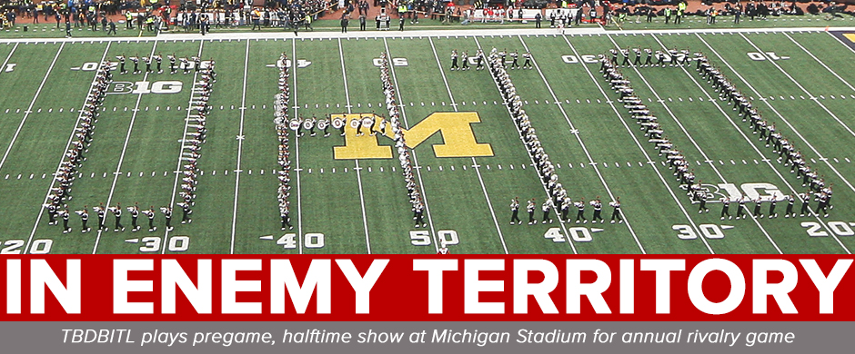 TBDBITL performs a Floating Ohio formation at Michigan Stadium in November 2019