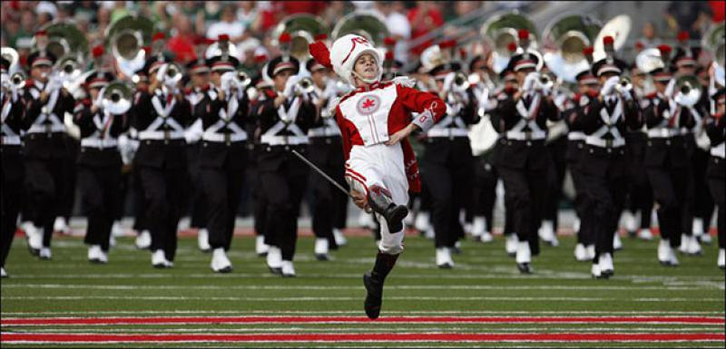 Ohio State Marching Band drum major