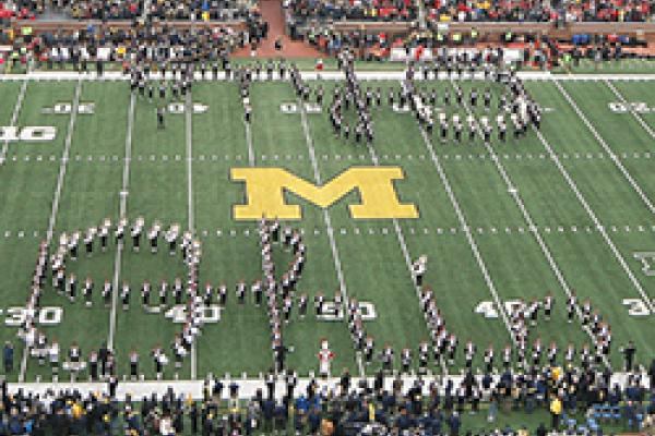 TDBITL performs a double Script Ohio at Michigan Stadium