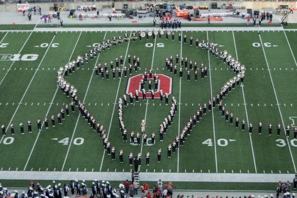 1953 Ohio State Buckeyes Football Game  photo classic halftime band show