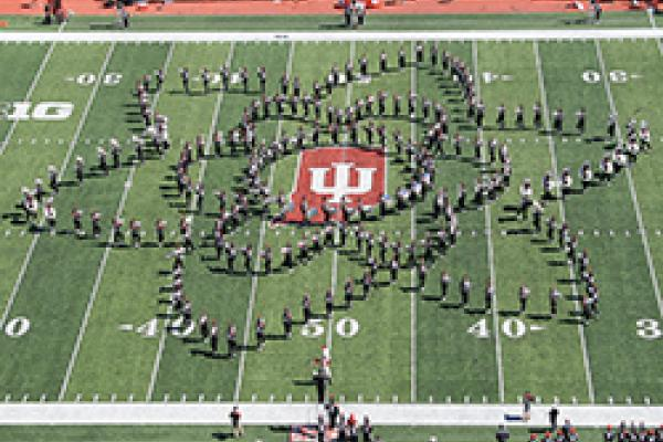 TBDBITL forms a flower at Memorial Stadium in Indiana