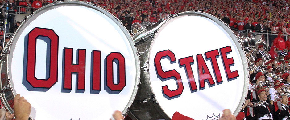 Ohio State Marching Band drums