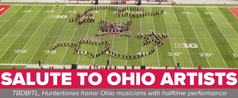 TBDBITL formation with Ohio silhouette and shooting star