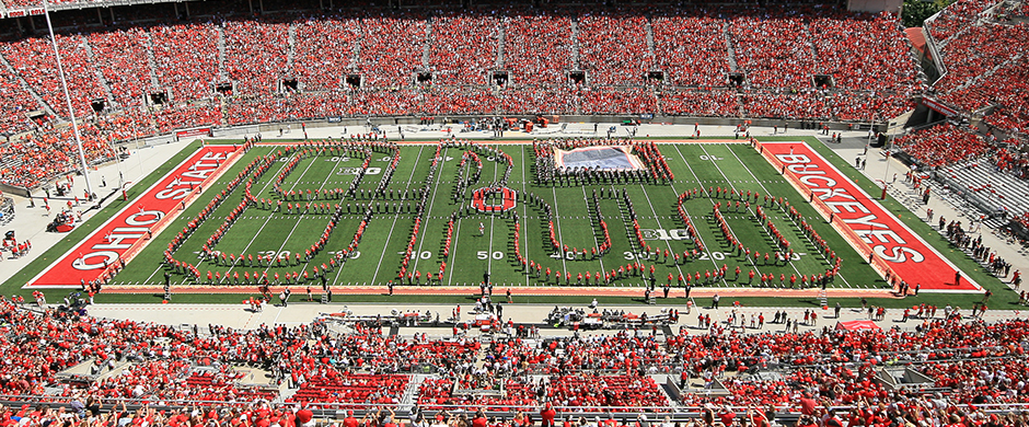 The ohio state university marching and athletic bands script ohio from 2016 alumni game voltagebd Choice Image