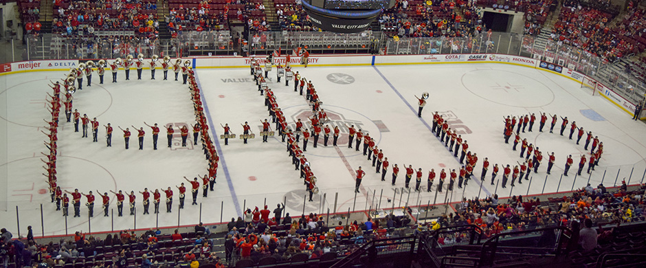 Athletic Band performs Script on Ice
